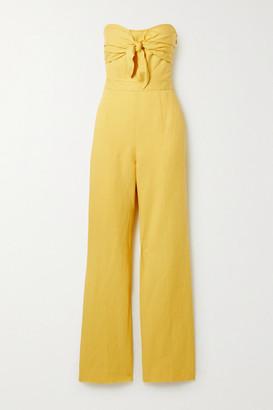 Derek Lam 10 Crosby Alene Strapless Linen, Lyocell And Cotton-blend Twill Jumpsuit - Yellow