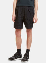 Kolor Men's Crocodile Textured Shorts In Black