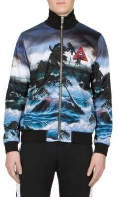 Givenchy Patch Hawaii-Print Zip Jacket