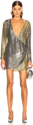 retrofete Christine Dress in Silver & Gold | FWRD