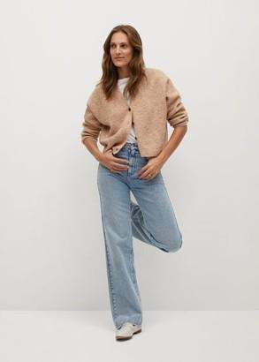 MANGO Button knit cardigan light/pastel grey - S - Women