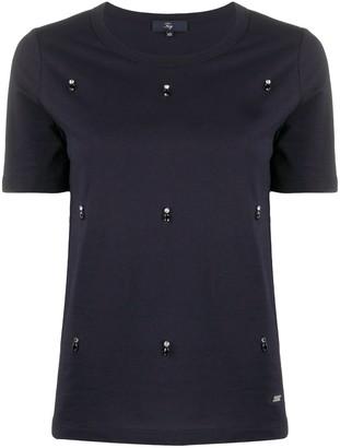 Fay crystal-embellished crew neck T-Shirt