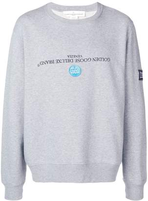 Golden Goose upside down logo sweatshirt
