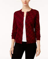 Karen Scott Petite Plaid Cardigan, Created for Macy's