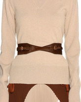 Agnona Calf Hair Fur Contour Belt