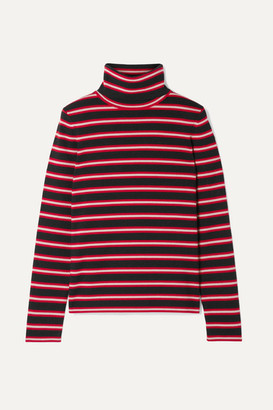 Moncler Genius - + 3 Striped Stretch Wool-blend Turtleneck Top - Red