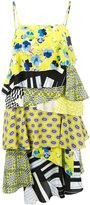 MSGM patch design dress - women - Silk/Polyester - 40