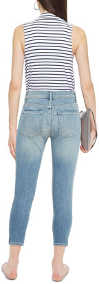 Current/Elliott The Stiletto Cropped Mid-rise Skinny Jeans