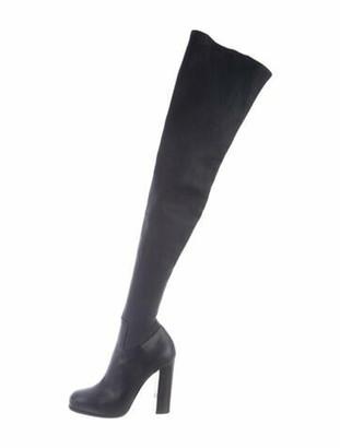 Celine Leather Sock Boots Blue