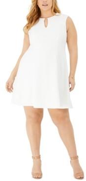 Jessica Howard Plus Size Keyhole Textured Knit Dress