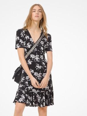 MICHAEL Michael Kors Botanical-Print Matte-Jersey Dress