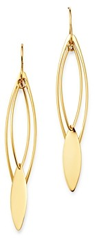 Marquis Moon & Meadow Long Drop Earrings in 14K Yellow Gold - 100% Exclusive