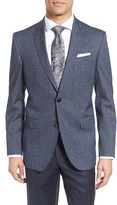 Ted Baker Men's Trim Fit Print Wool & Cotton Sport Coat