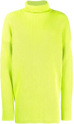Balenciaga Ribbed Turtleneck Jumper