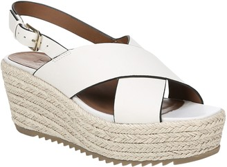 Naturalizer Leather Slingback Espadrilles Wedges - Oak