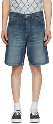 Neighborhood Indigo Denim Washed C-ST Utility Shorts