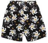 I Play Outerspace Ultimate Swim Diaper Pocket Trunks in Black