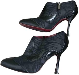 Just Cavalli Black Leather Boots