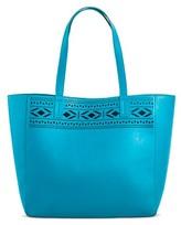Merona Women's Faux Leather Tote Handbag Perforated
