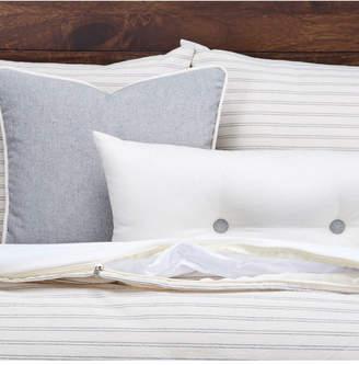Siscovers Ticking Stripe Pewter 6 Piece King Luxury Duvet Set Bedding