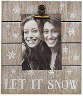 "New View Let It Snow"" 4"" x 6"" Photo Clip Frame"