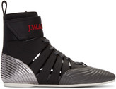 J.W.Anderson Black Leather High-Top Sneakers