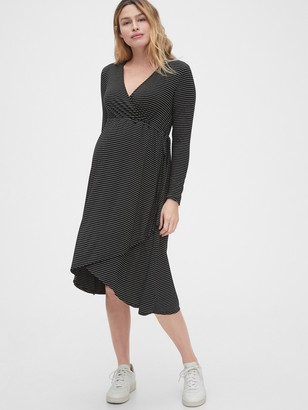 Gap Maternity Midi Wrap Dress