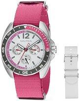 Nautica Women's NAD11524M Ladies Sport Ring Gift Set Analog Display Quartz Pink Watch