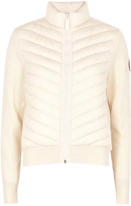 Canada Goose Hybridge Off-white Wool And Shell Jacket