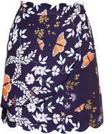 Ted Baker Herper Kyoto Mini Skirt With Scallop Detail