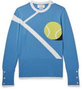 Thom Browne Tennis Ball-Intarsia Cashmere Sweater