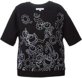 Carven perforated floral sweater