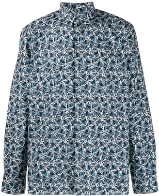 Fendi Geometric Print Shirt