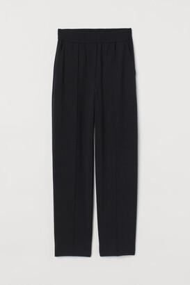 H&M Tapered Wool-blend Dress Pants - Black