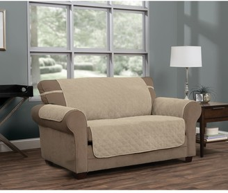 P Kaufmann Home Ripple Plush Secure Fit Sofa Furniture Cover Slipcover