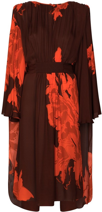 Johanna Ortiz A Secret Place floral-print silk midi dress