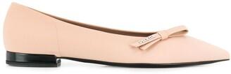 Prada bow embellished ballerina shoes