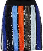 River Island Womens Blue stripe sequin mini skirt