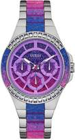 GUESS Silver-Tone and Ombre Analog Watch