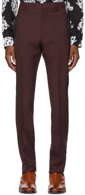 Givenchy Burgundy Slim Trousers