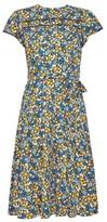 Dorothy Perkins Womens Billie & Blossom Petite Multi Colour Short Sleeve Floral Print Lace Skater Dress