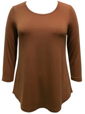 JM Collection Plus Size Scoopneck Top, Created for Macy's