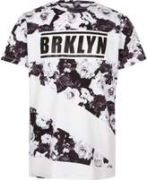 River Island Boys mono 'Brkyln' floral print T-shirt
