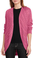 Lauren Ralph Lauren Belano Cotton-Blend Ribbed Cardigan