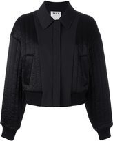 DKNY quilted reversible bomber jacket - women - Polyester/Spandex/Elastane/Viscose - S