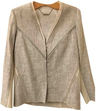 Elie Tahari Grey Cotton Jacket for Women