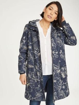 Thought - Volumnia Organic Cotton Coat - 38 (UK 10) | organic cotton | Floral Print | navy - Navy