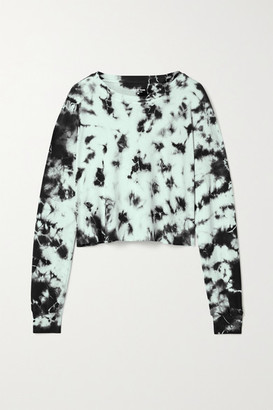 YEAR OF OURS Cropped Tie-dyed Cotton-jersey Top - Black