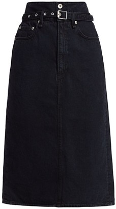 Rag & Bone Paperbag Waist Denim Midi Skirt