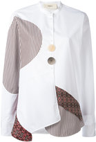 Ports 1961 contrast panel shirt